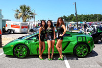 MPT Autobody Models Pose with a MPT customized  lamborghini